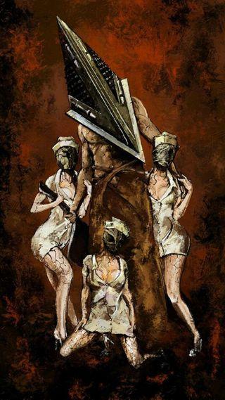 Обои на телефон холм, тихий, голова, хэллоуин, пирамида, silent hill, pyramid head