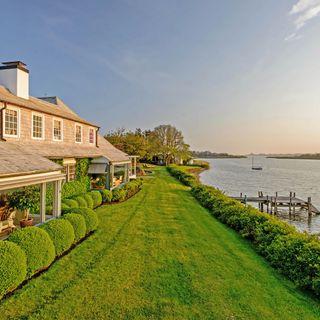 Обои на телефон роскошные, путь, море, закат, дом, вода, waterfront way, luxury, hamptons