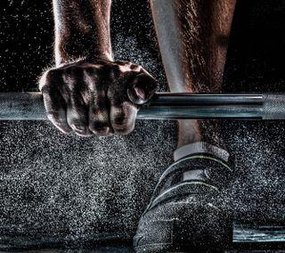 Обои на телефон тренировка, спортзал, спорт, рука, металл, training, sweat, crossfit