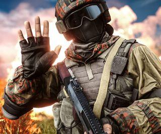 Обои на телефон солдат, игра, выстрел, fps, cod, battlefield
