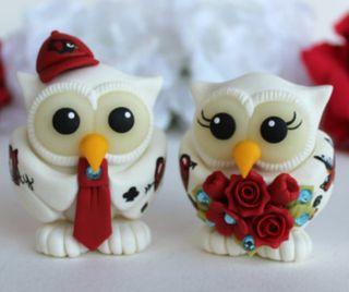 Обои на телефон украшение, торт, сова, птицы, пара, милые, любовь, брак, wedlock, love, cake decoration, 960x800px