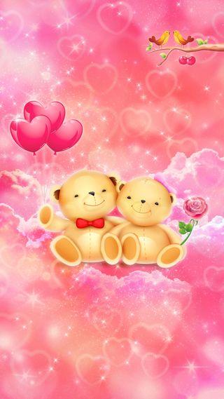 Обои на телефон медведи, симпатичные, сердце, розы, розовые, медведь, любовь, девчачие, валентинка, valentine bears, love