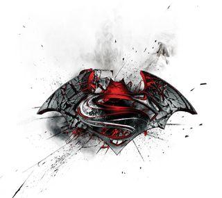 Обои на телефон против, супермен, супергерои, логотипы, комиксы, бэтмен, hd, dc