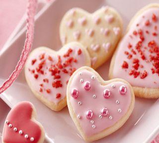 Обои на телефон еда, сердце, розовые, печенье, пара, новый, милые, любовь, девушки, love, heart cookies