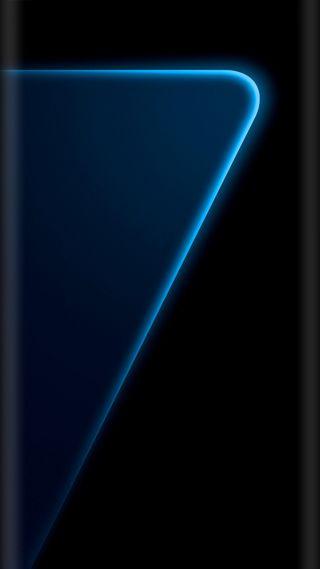 Обои на телефон стиль, синие, красочные, дизайн, грани, галактика, s7, galaxy s7 edge, edge style