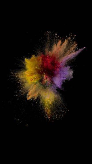 Обои на телефон брызги, цветные, фан, color splash