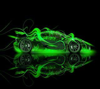 Обои на телефон скорость, огонь, машины, колеса, зеленые, mc laren p1, laren, kurdi, gs, green car, bjk