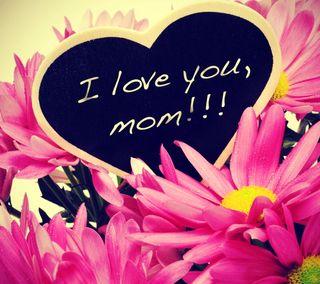 Обои на телефон цветы, фон, прекрасные, розовые, поговорка, мама, любовь, love, beautiful saying