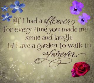 Обои на телефон сад, цветы, смех, смайлики, поэма, милые, любовь, знаки, высказывания, love, flower poem