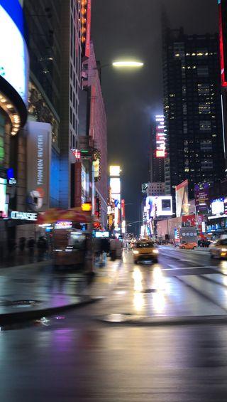 Обои на телефон нью йорк, квадратные, огни, город, times square
