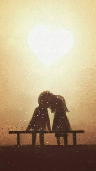 Обои на телефон любовники, пара, мультики, любовь, love