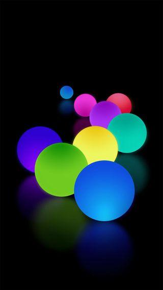 Обои на телефон шары, цвета, цветные, новый, note 9 colour balls
