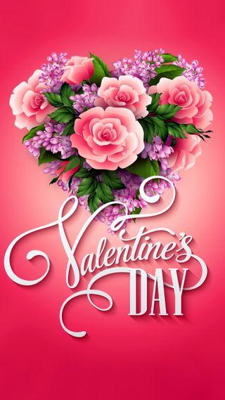 Обои на телефон валентинки, цветочные, сердце, розы, день