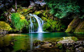 Обои на телефон водопад, природа, прекрасные, падает, осень, красота, естественные, вода
