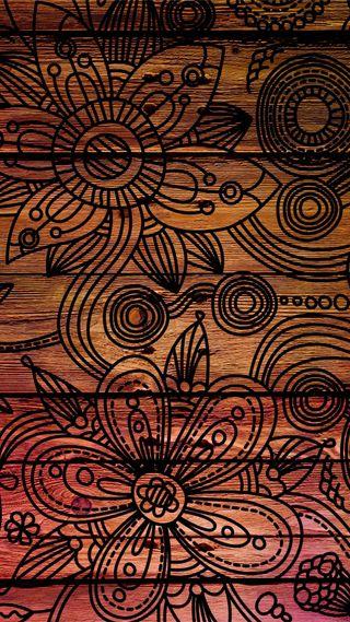 Обои на телефон узоры, фон, темные, текстуры, деревянные