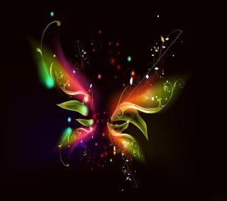 Обои на телефон бабочки, темные, свет, прекрасные, красочные, абстрактные