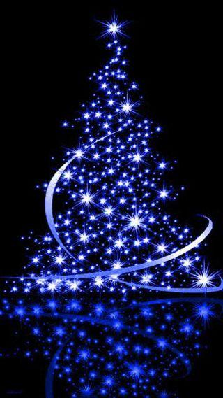 Обои на телефон рождество, дерево