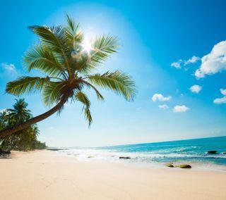 Обои на телефон рай, пляж, пейзаж