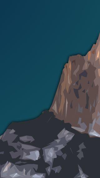 Обои на телефон элегантные, темные, простые, плоские, пейзаж, минимализм, материал, горы, flat mountain