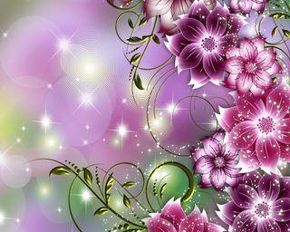 Обои на телефон взгляд, цветы, приятные, абстрактные