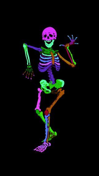 Обои на телефон танец, череп, фиолетовые, фигура, скелет, рука, розовые, оранжевые, лицо, красочные, кость, коричневые, зеленые, голова, skeleton dance 3, skelet, plot, leg, kor4@rts, jaw, chap, Skeleton