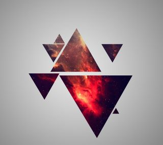 Обои на телефон triangle art, арт, цифровое, треугольник