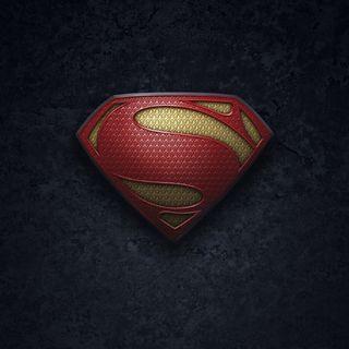 Обои на телефон стальные, супермен, металл, логотипы, герой