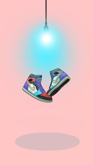 Обои на телефон обувь, рисунки, найк, мультфильмы, джордан, nike, hypebeast, air jordan 1