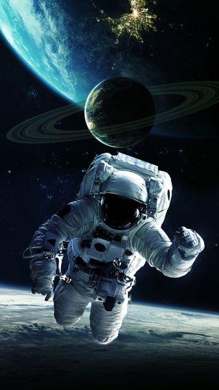 Обои на телефон космонавт, вселенная, земля, звезда, astronaute