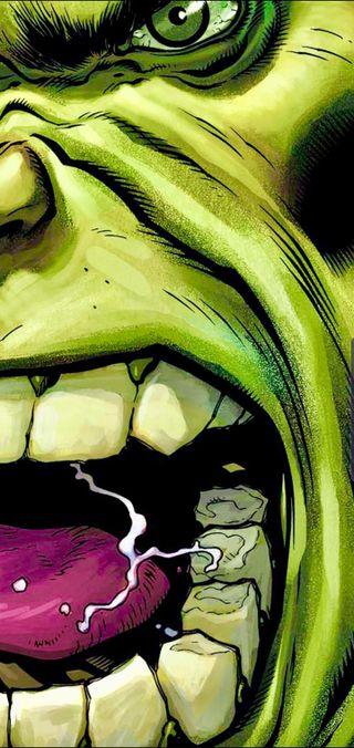 Обои на телефон череп, халк, марвел, комиксы, зеленые, note 10 plus, marvel