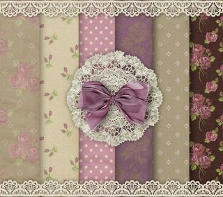 Обои на телефон пастельные, шаблон, ткани, розы, лук, кружево, винтаж, бумага, vintage by marika
