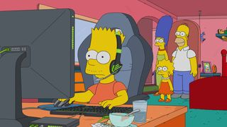 Обои на телефон симпсоны, геймер, барт, the simpson, los simpson