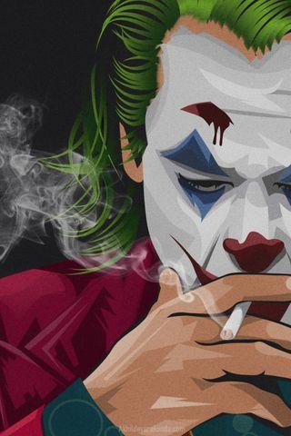 Обои на телефон картина, джокер, бэтмен, joker painting