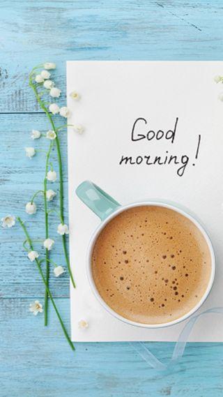 Обои на телефон кофе, цветы, утро