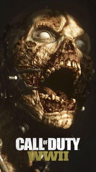 Обои на телефон зомби, ww2 zombies, call of duty