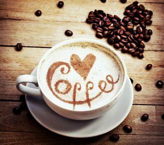 Обои на телефон чашка, сердце, любовь, кофе, зерна, love, cup