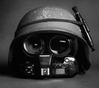 Обои на телефон шлем, камера