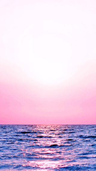 Обои на телефон волны, розовые, пейзаж, море, закат, вода