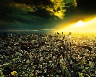 Обои на телефон дороги, утро, облака, здания, городские, города, город