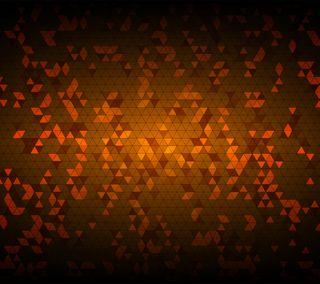 Обои на телефон треугольники, оранжевые, абстрактные