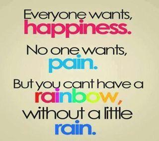 Обои на телефон счастье, радуга, надежда, жизнь, дождь, боль, 2013