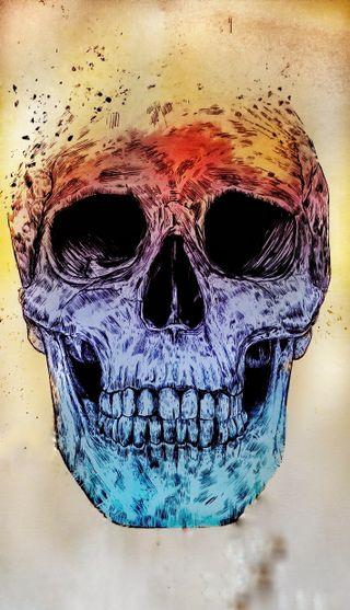 Обои на телефон узоры, череп, цветные, смерть, рок, поп, музыка, металл, жизнь, арт, skull of life, art