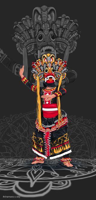 Обои на телефон шри ланка, шри, дьявол, темные, сингала, маска, traditional mask, traditional, srilanka mask, srilanka devil mask, srilanka devil, sri devil dark, devil mask