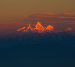 Обои на телефон туман, рендж, закат, горы, himalayas