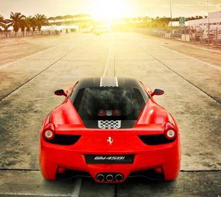 Обои на телефон феррари, машины, красые, италия, гоночные, ferrari 458 italia, ferrari, back
