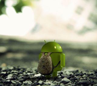 Обои на телефон камуфляж, символ, логотипы, икона, дроид, андроид, droid with packpack, backpack, android