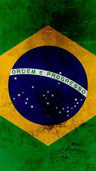 Обои на телефон bandeira, brasil flag, флаг, бразилия