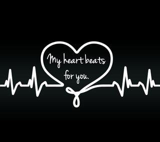 Обои на телефон цитата, флирт, ты, сердце, приятные, поговорка, новый, любовь, знаки, влюблен, love, beats for you, beats