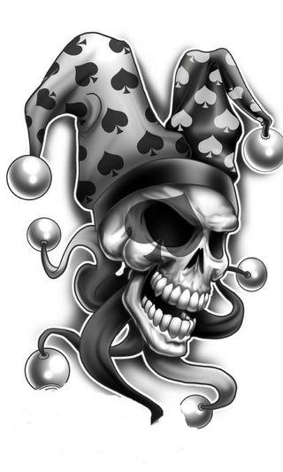 Обои на телефон смерть, череп, клоун, абстрактные