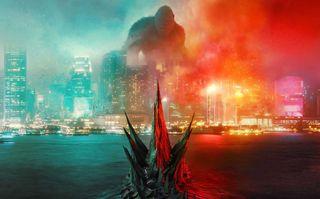Обои на телефон фильмы, против, король, конг, годзилла, война, бой, monster, godzilla vs kong, cine, 2021
